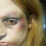 Zúzódás festése arcfestékekkel