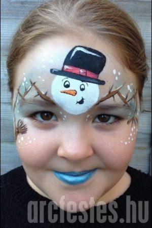 Hóember arcfestés