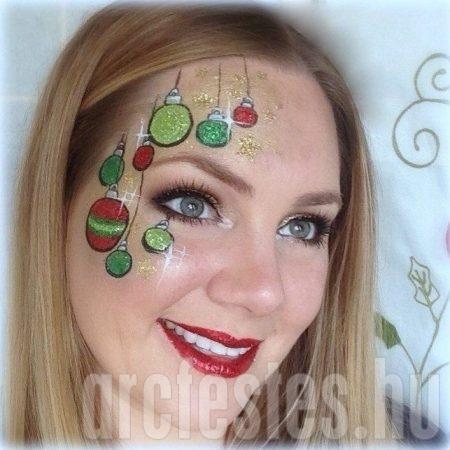 Karácsonyi díszes arcfestés