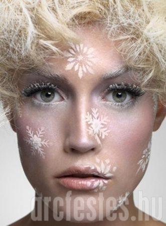 Hópihés arcfestés