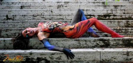 Mark Reid testfestése Budapesten