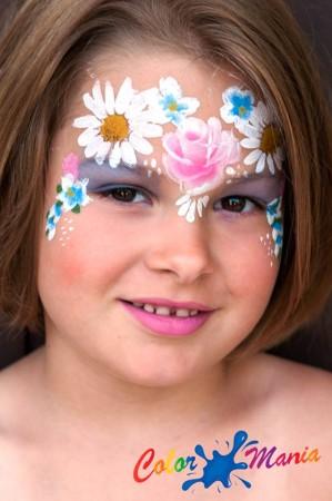virágok arcfestés, Hoppál Éva
