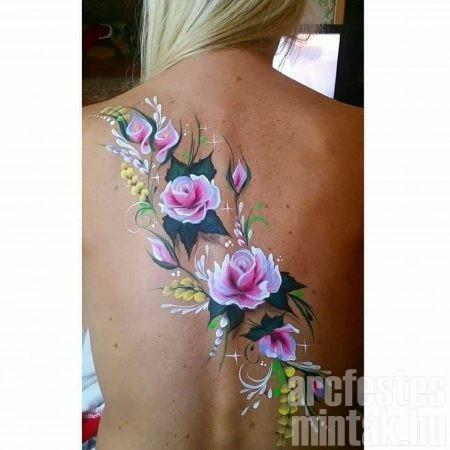 Rózsa testfestés, Hegedűs Eszter