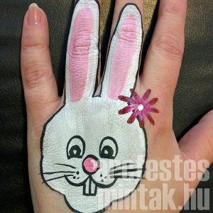 Nyuszi kézen – testfestés
