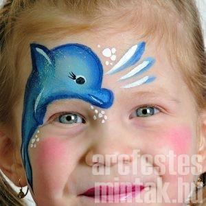 Delfin arcfestés