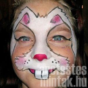 Húsvéti nyuszi arcfestés