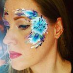 Búzavirág arcfestés lépésről lépésre