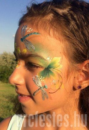 Szitakötők - Csíz arcfestés