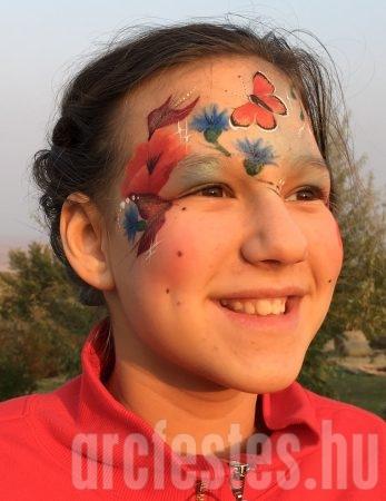 Tűzlepke - Csíz arcfestés