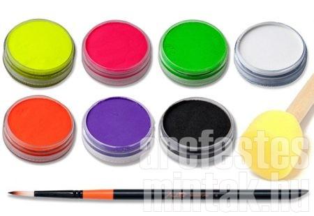 UV arcfestékek és kellékek a maszk arcfestéshez