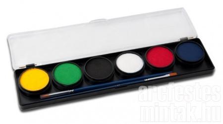 Diamond FX arcfesték paletta, alap színek, 150 arcfestésre elég