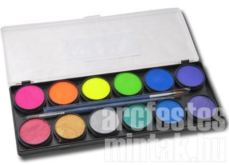 A gyöngyház és lila színek ebből a palettából valók a kutya arcfestésen
