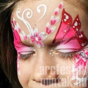 Pink Tavasztündér arcfestés, VIDEO