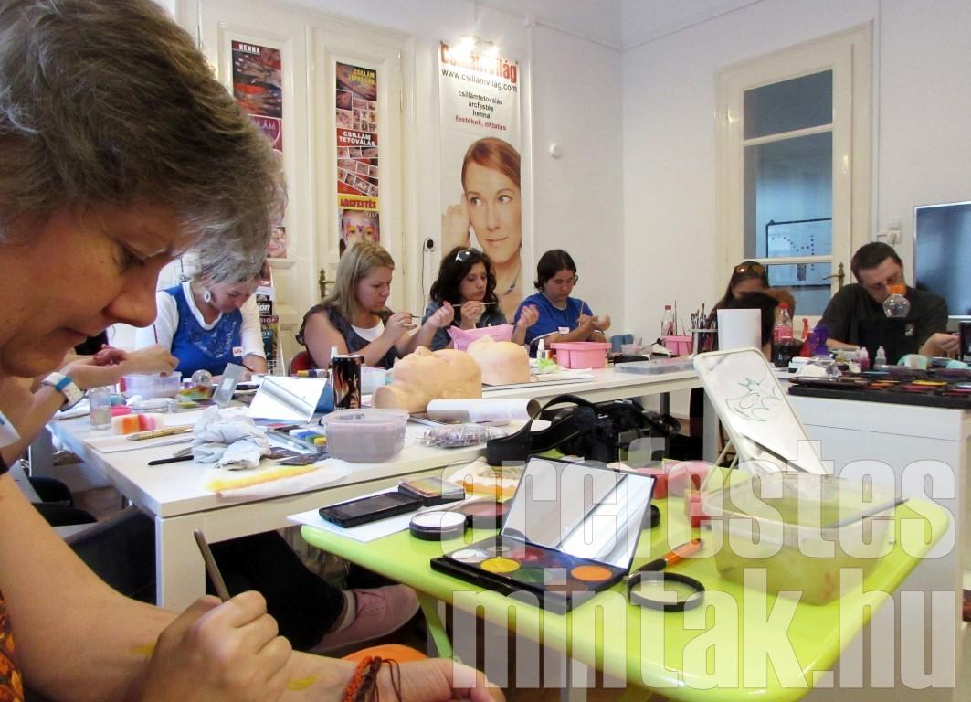 Mark Reid arcfestőképző workshop, Budapest, 2014