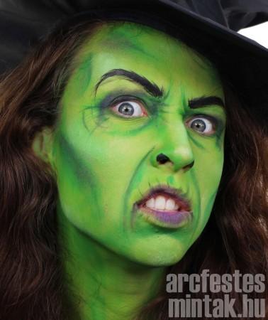Zöld boszorkány, Snazaroo arcfestékkel