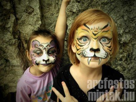 Csönki Katalin, tigrisek, arcfestés
