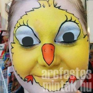 Húsvéti csibe arcfestés