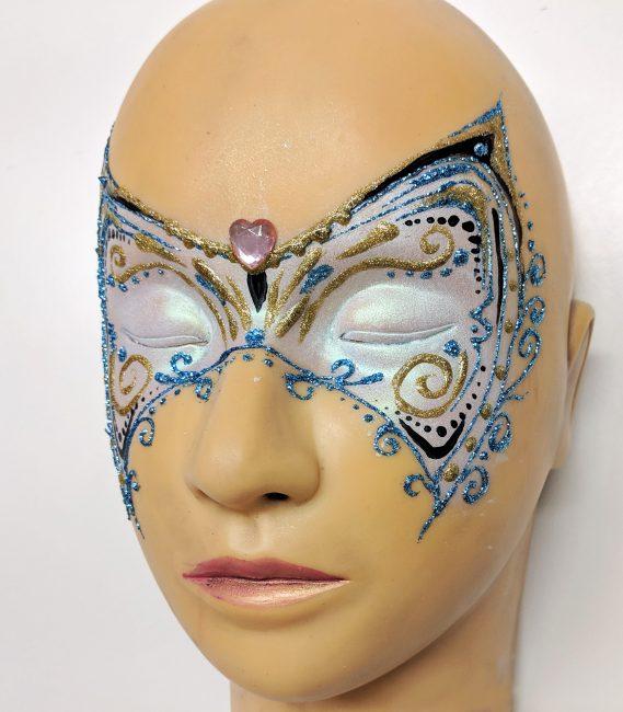Csillámos farsangi maszk