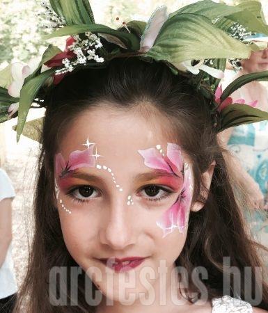 Virágos - Csíz arcfestés