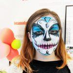 Cukorkoponya arcfestés kék-fehérben, VIDEO