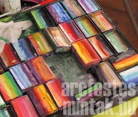 Egy mozdulat festés festékek