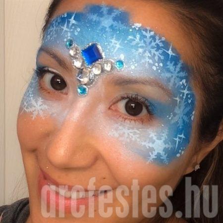 Téli maszk arcfestés
