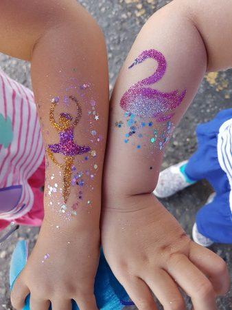 Csillámfestés flitter, csillámpor, Mai Bohl