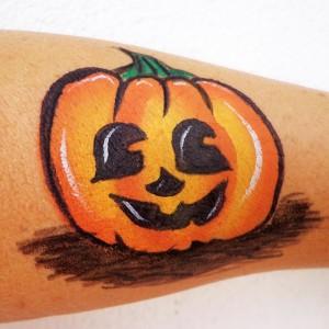 Halloween tök festés részletesen