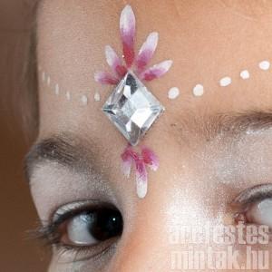 Homlokdísz hercegnő arcfestés 1. lépésről lépésre
