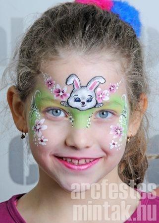 Nyuszi húsvéti arcfestés: fekete highlight