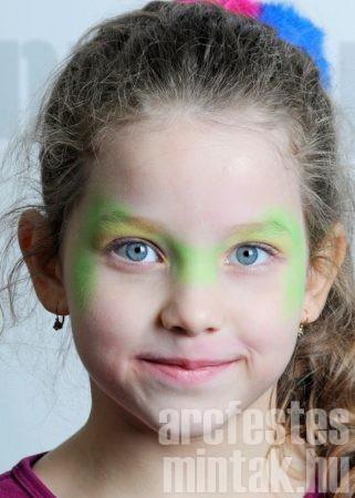 Húsvéti nyúl arcfestés alapozás