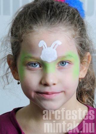Húsvéti nyúl arcfestés nyuszi fej