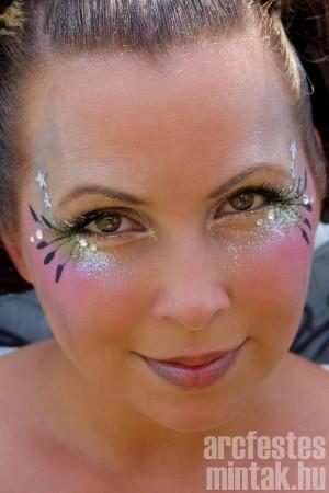 Kreatív arcfestés felnőtteknek - csillámmal. forrás: illusionfaceandbodyart