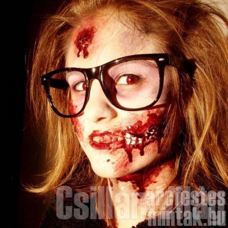 Halloween zombi arcfesték, Györgyi Mária