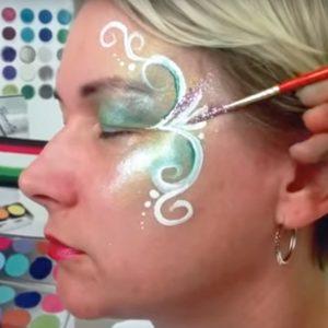 Indás arcfestés
