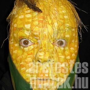 kukorica arcfestés