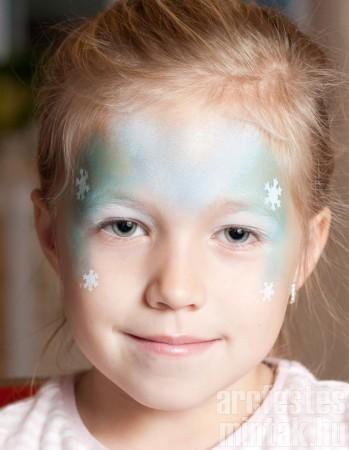 4. Jéghercegnő arcfestés