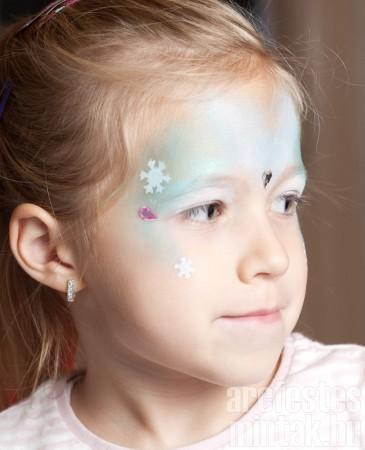 5. Jéghercegnő arcfestés