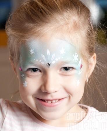 6. Jéghercegnő arcfestés