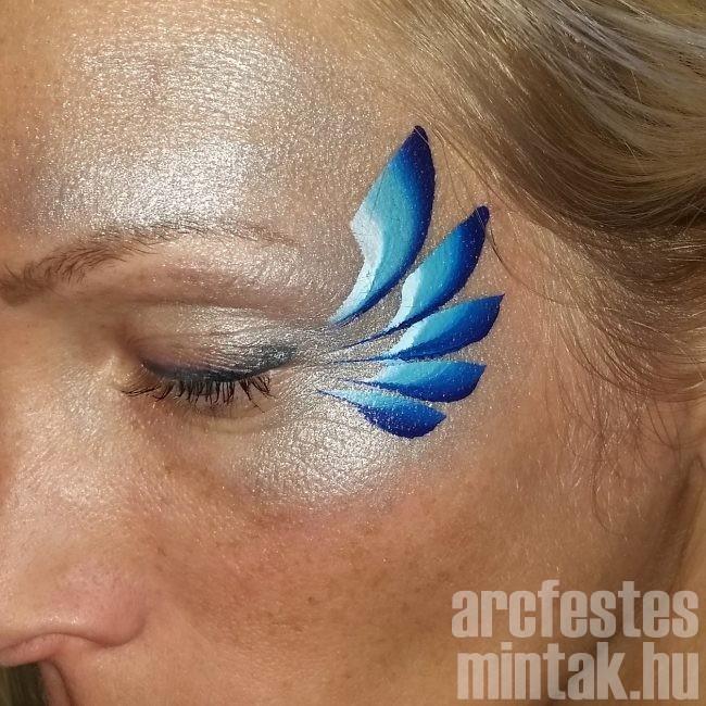 Kék-lila virág arcfestés 2.