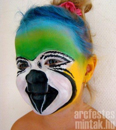 Papagáj arcfestés, Kánya Szilvia