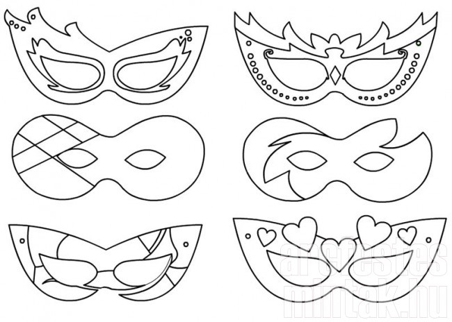 Egyszerű farsangi maszkok