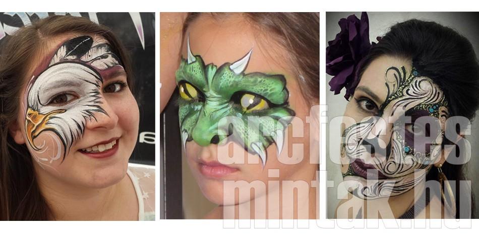 Különleges minták arcfestés workshop Mark Reid-del