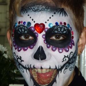 Cukorkoponya arcfestés és a hozzávalók