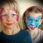 Pillangó arcfestés – egyszerű változat