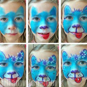 Kutya arcfestés lépésről lépésre