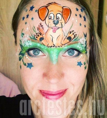 kutya arcfestés lányoknak
