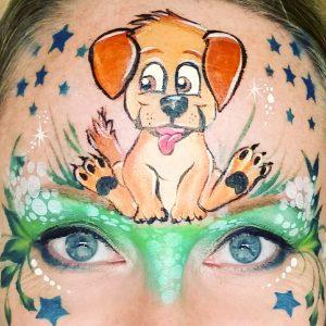 Kutya arcfestés haladóknak