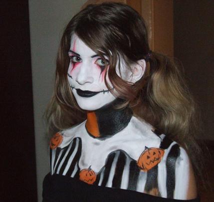 Díjnyertes Halloween arcfestés