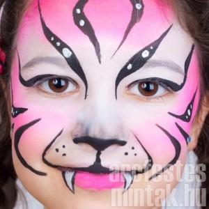 Tigris arcfestés lányoknak 4